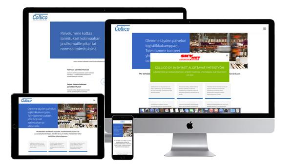Collico.fi-verkkosivu