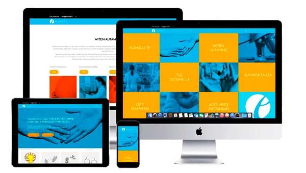 Elamalle.fi verkkosivut ja verkkokauppa