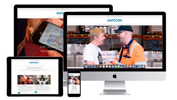 www.napocom.fi verkkosivut