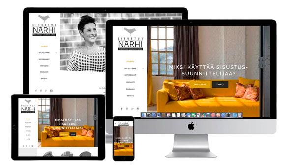 www.sisustussuunnittelija-helsinki.fi verkkosivut